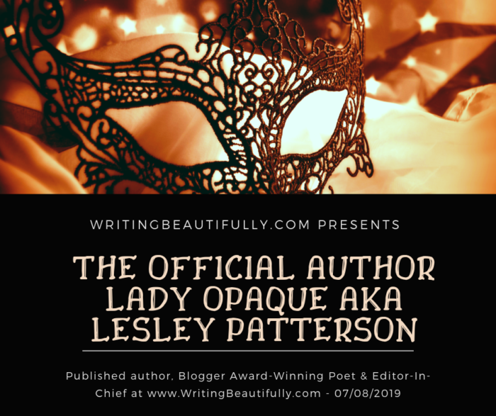 Banner for The Official Author Lady Opaque
